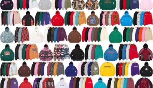 【Supreme】2021FWコレクションに登場するスウェットシャツ(Sweatshirts)