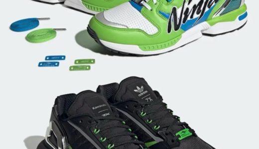 """Kawasaki × adidas ZX 8000 & ZX 5K BOOST """"Ninja""""が2021年10月に発売予定"""