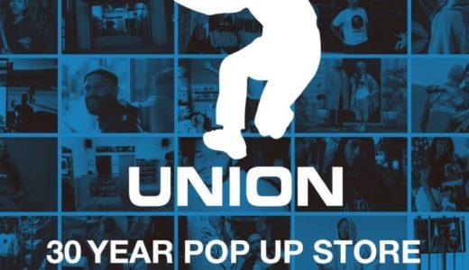 『UNION』30周年を記念した期間限定ストアが9/17〜9/26、渋谷PARCO 1Fにオープン